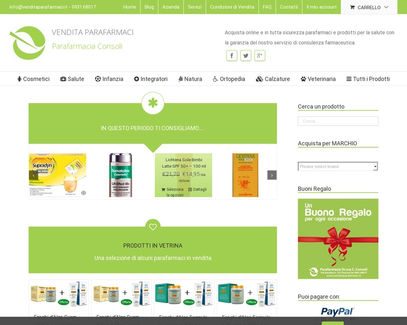 E-commerce www.venditaparafarmaci.it